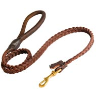 Dog Leather Braided Dog Leash
