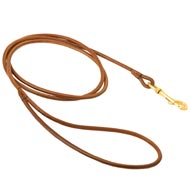 Round Leather Dog Leash for Dog Shows