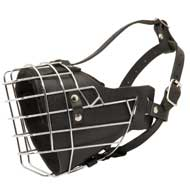 Leather Padded Wire Cage Dog Muzzle for Agitation Training