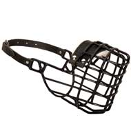 Frost-Resistant Wire Cage Dog Muzzle with One Adjustable Strap